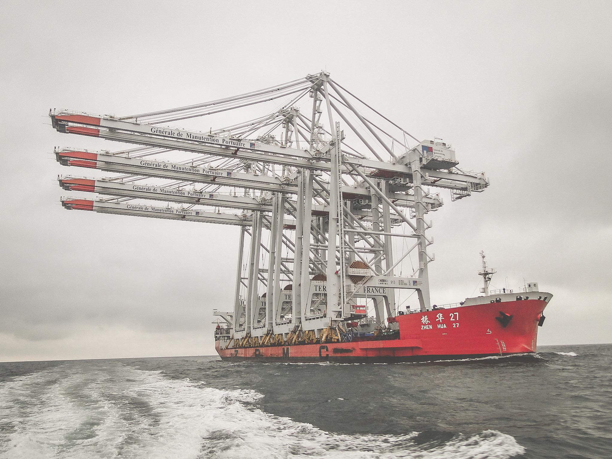 4 nouveaux portiques pour la GMP au Port du Havre