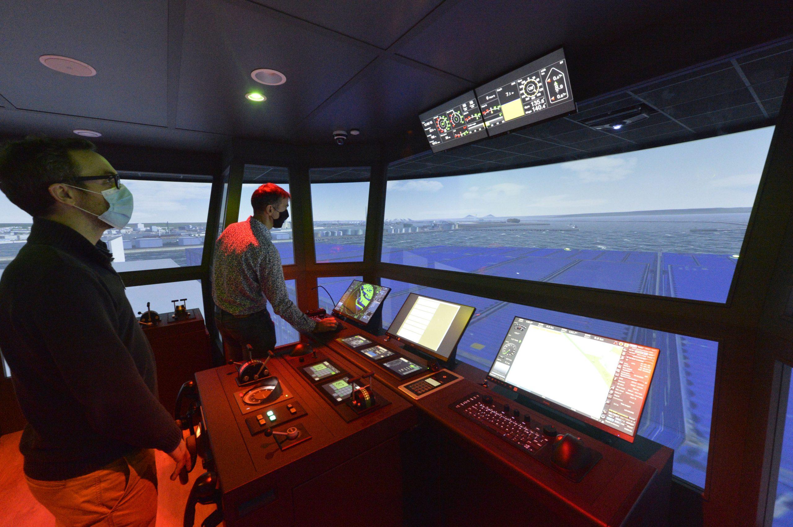 Simulateur de dernière génération Station de Pilotage du Havre Fécamp